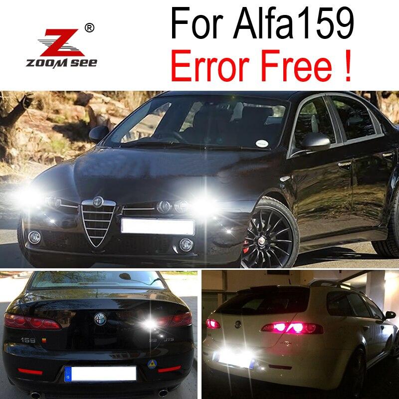 Perfect Canbus White Reverse Back Up Bulb + Parking City + License Plate For Alfa Romeo 159 LED Exterior Light Kit (2005-2012)
