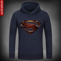 Man Of Steel Film Superman Symbolize Hoody Coat Pullover Hoodies Sweatshirt DC Comics Sweatshirts Outerwear Clothes