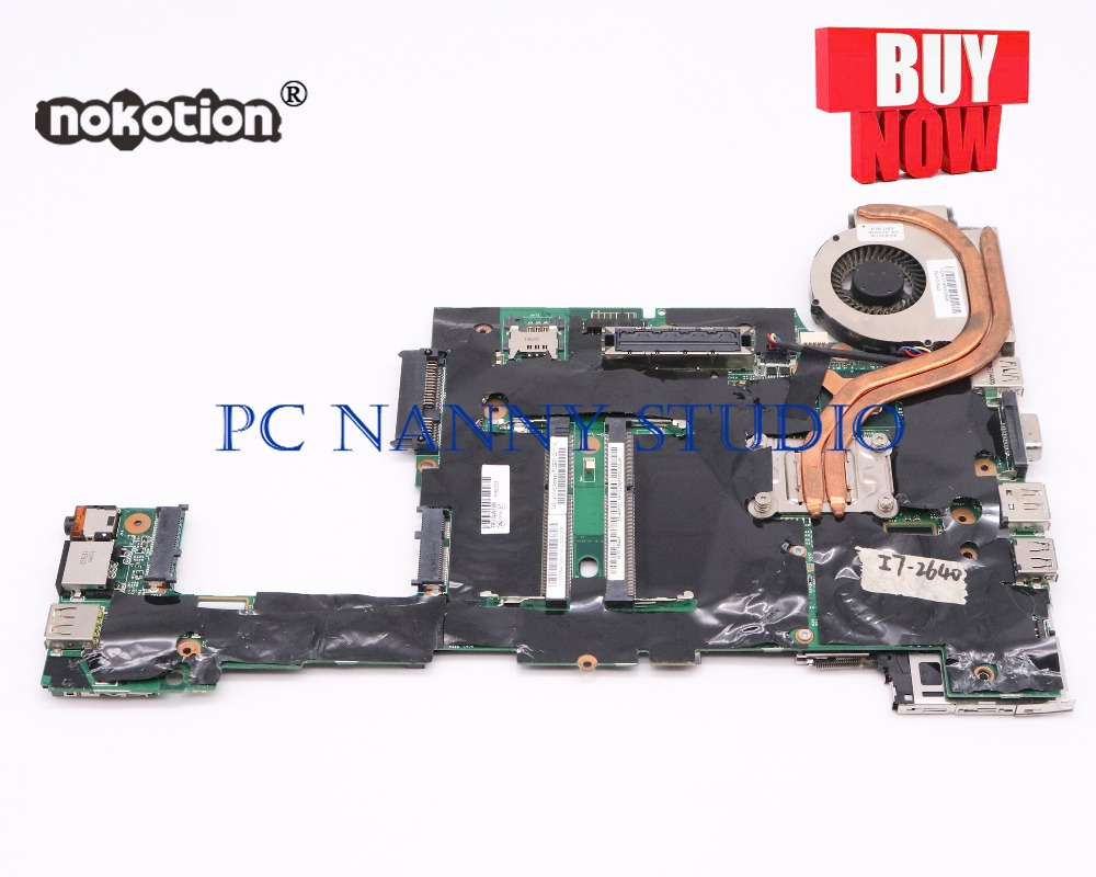 PCNANNY 04W3386 FOR lenovo X220 Motherboard Mainboard with <font><b>i7</b></font>-<font><b>2620M</b></font> CPU with fan DDR3 Tested image
