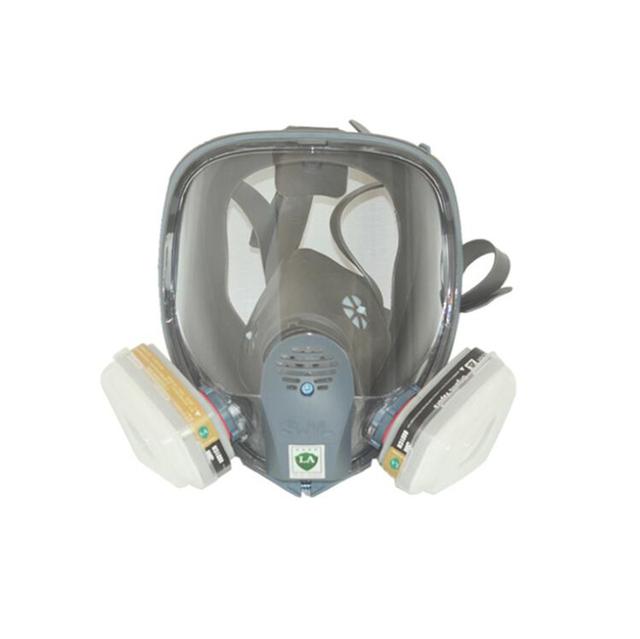 Doble Filtro de la careta Antigás de Seguridad Completa Respirador 7 Trajes/Cuerpo de la Máscara Anti-polvo de la Pintura del Cartucho de Vapor Orgánico química Máscara