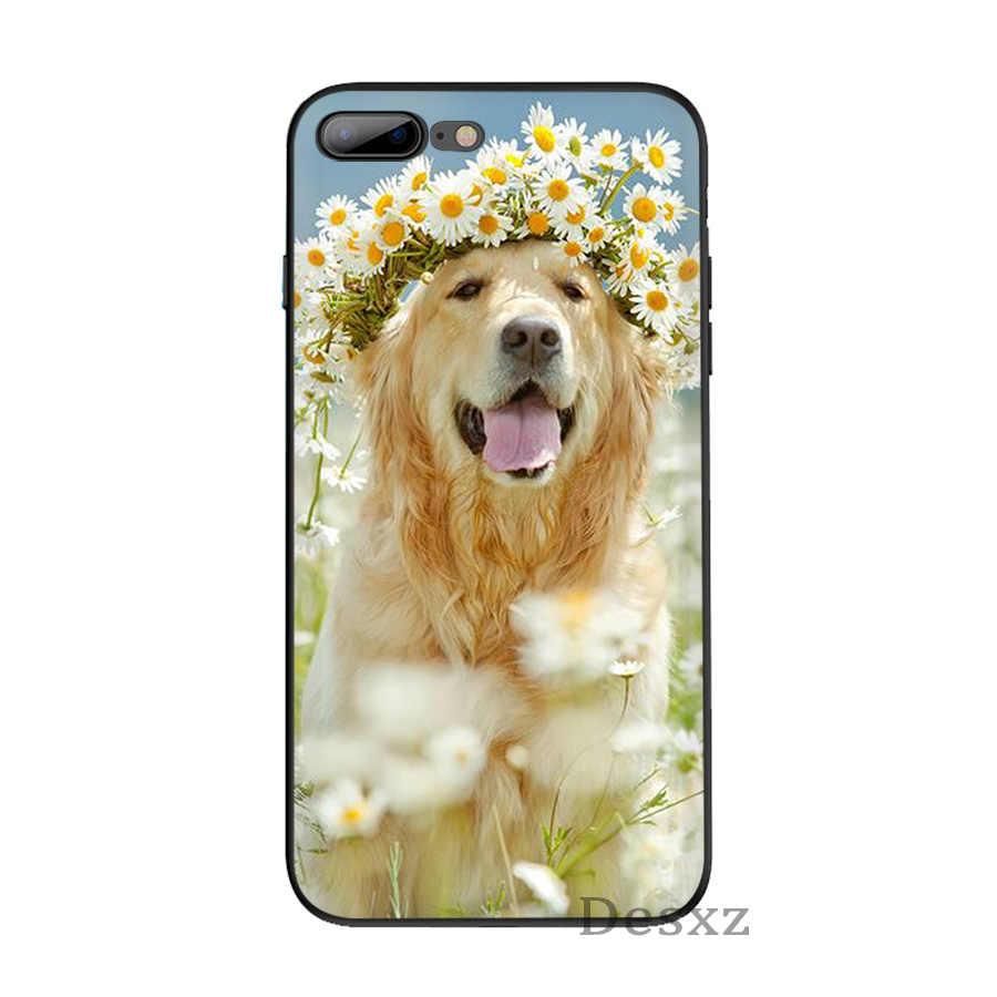 Силиконовый чехол для iPhone 6 6s 7 8 Plus X XS XR Max 5 5S SE голова животного носить цветы Ежик корова собака лиса ТПУ