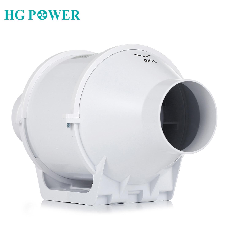 4inch 100mm Home Inline Duct Fan Ventilation Tube Fan Vent Air Blower Exhaust Fan 220V Booster