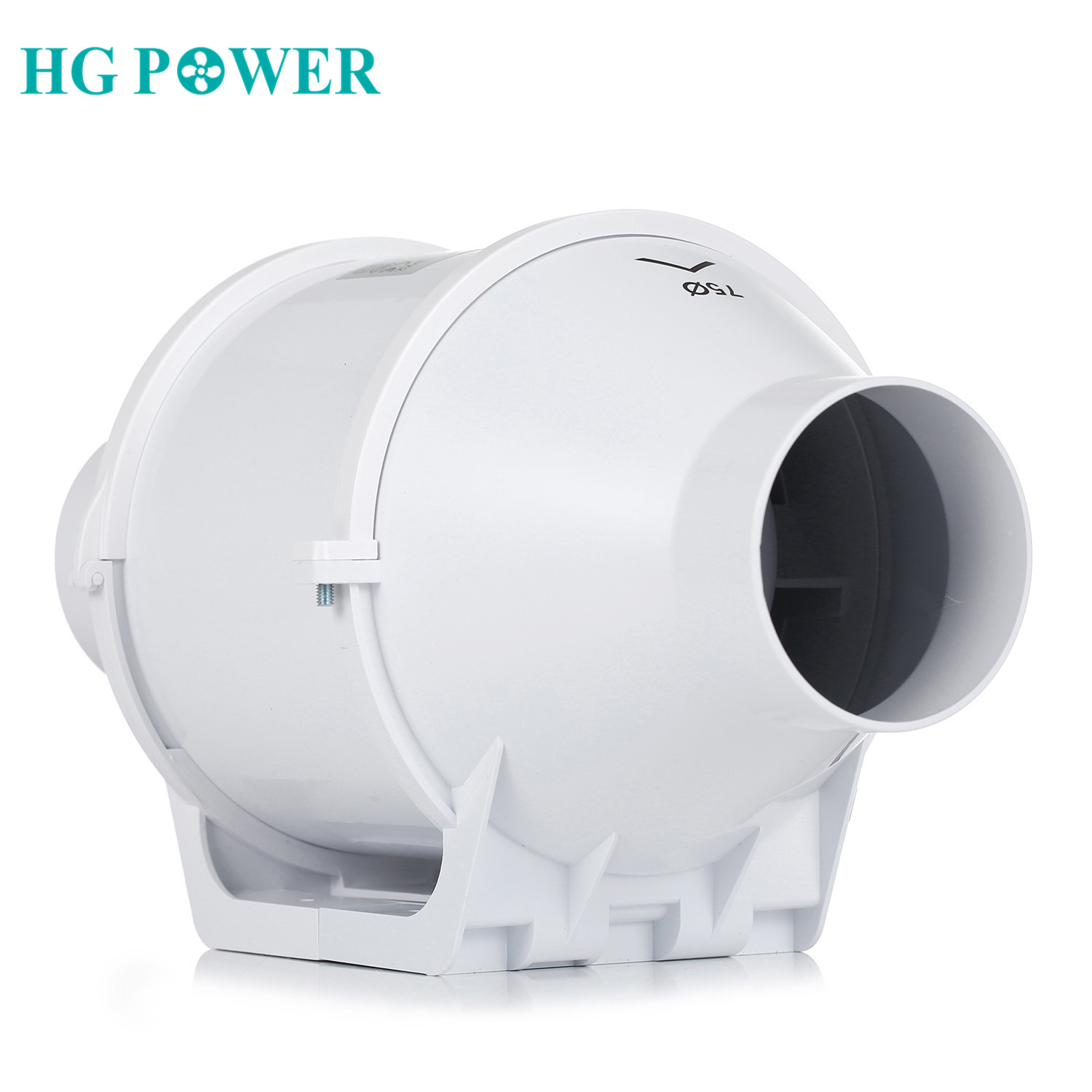 4'' Silent Home Inline <font><b>Duct</b></font> <font><b>Fan</b></font> <font><b>100mm</b></font> Exhaust <font><b>Fan</b></font> 220V Blower Booster Ventilator Ventilation System Turbo Toilet Air Extractor image