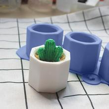 새로운 diy 시멘트 냄비 만들기 실리콘 금형 손으로 만든 점토 공예 만들기 시멘트 금형 즙이 많은 식물 콘크리트 화분 성형 도구