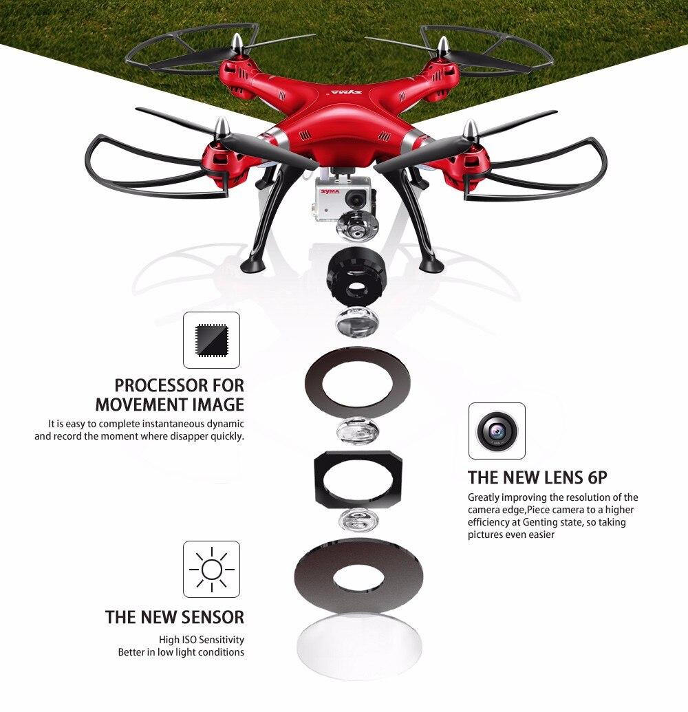 SYMA Professional UAV X8HG X8HW X8HC 2.4G 4CH RC Helicopter Drones 1080P 8MP HD Camera Quadcopter (SYMA X8C/X8W/ X8G Upgrade) 4