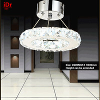 Lámpara LED de acero inoxidable  anillo K9  lámpara de cristal  lámpara circular moderna  PIU-01 de luz