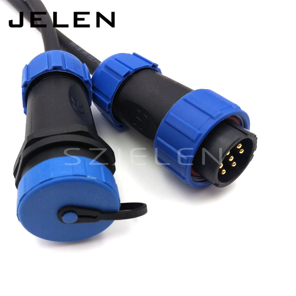 SP2110, 7pin cable connector,IP68, electrical connector ... on Sconces No Electric Plug id=12247