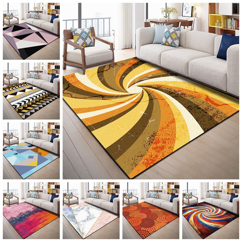 European Geometric Printed Area Rugs Large Size Carpets For Living Room Bedroom Decor Rug Anti Slip Floor Mats Bedside Tapete