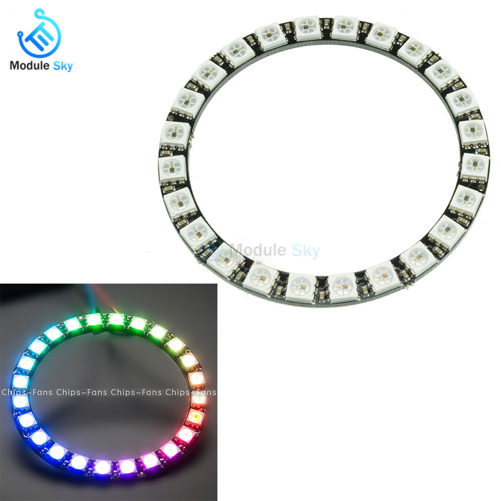 100 Pcs 16 Bit 4*4 Ws2812b 5050 Rgb Led Built-in Full-color Driver Lights Development Board Module Attractive Designs; Electronic Components & Supplies