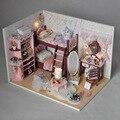 Дома, мебель для куклы дом для кукол Diy Buliding Кукольные Домики Модель Игрушки dollhouse миниатюрные Обучающие Игрушки Birtyday Подарков