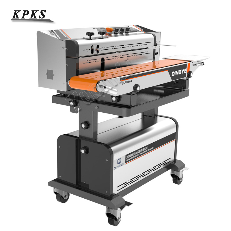Continuous Vacuum Sealing Machine Vacuum Sealing Packaging Machine Automatic Food Inflatable Sealer 220V LF1080A/LF1080B