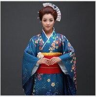 High Quality Japanese Women Traditional Kimono Yukata With Obi Sexy Cosplay Costume Vintage Dance Prom Dress