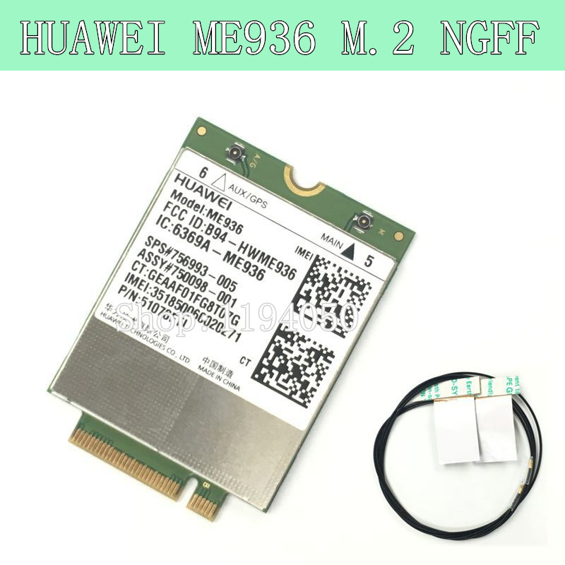 HUAWEI ME936 4 G LTE module NGFF WCDMA quad-band EDGE / GPRS / GSM Penta-band DC-HSPA + / HSP WWAN CARD 2015 latest university practice sim900 quad band gsm gprs shield development board for ar duino sim900 mini module