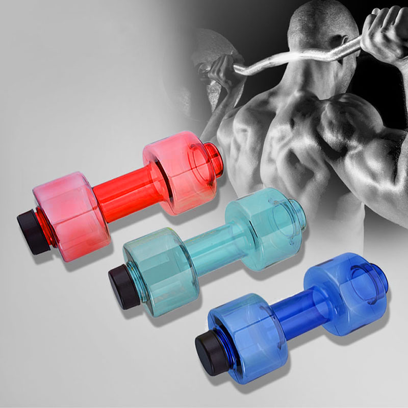 2.5L Portable Water Bottle Dumbbell Shaped Sports Gym Workout Fitness Bottle