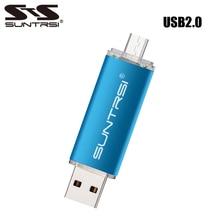 Suntrsi USB Flash Drive 64GB Metal OTG Pendrive External Storage Pen Drive Micro USB for Smart
