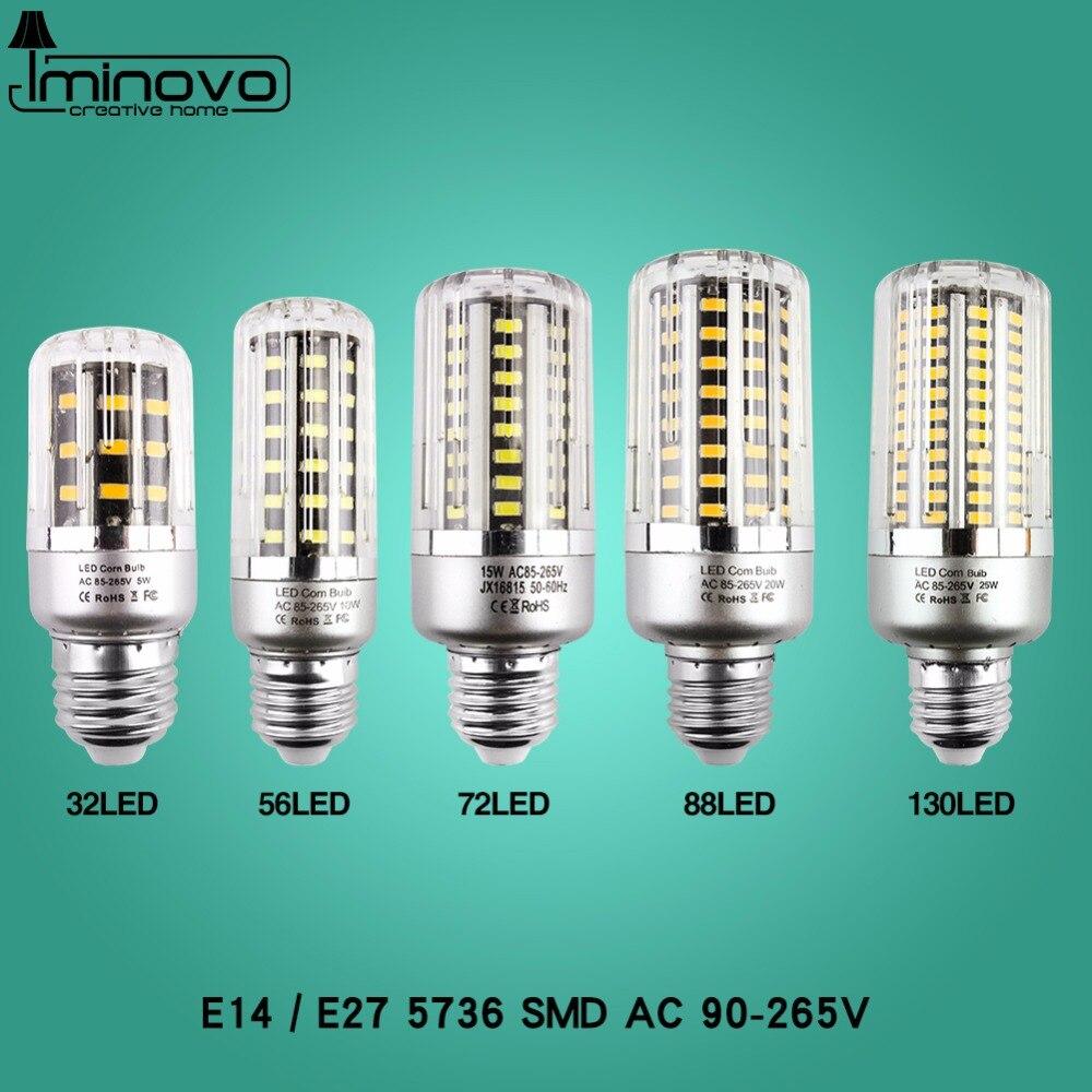Super Bright LED Bulb Light E27 LED Lamp E14 30 38 54 85 105 115 125 LEDs SMD5736 220V Corn Bulb Chandelier Candle Home Decor