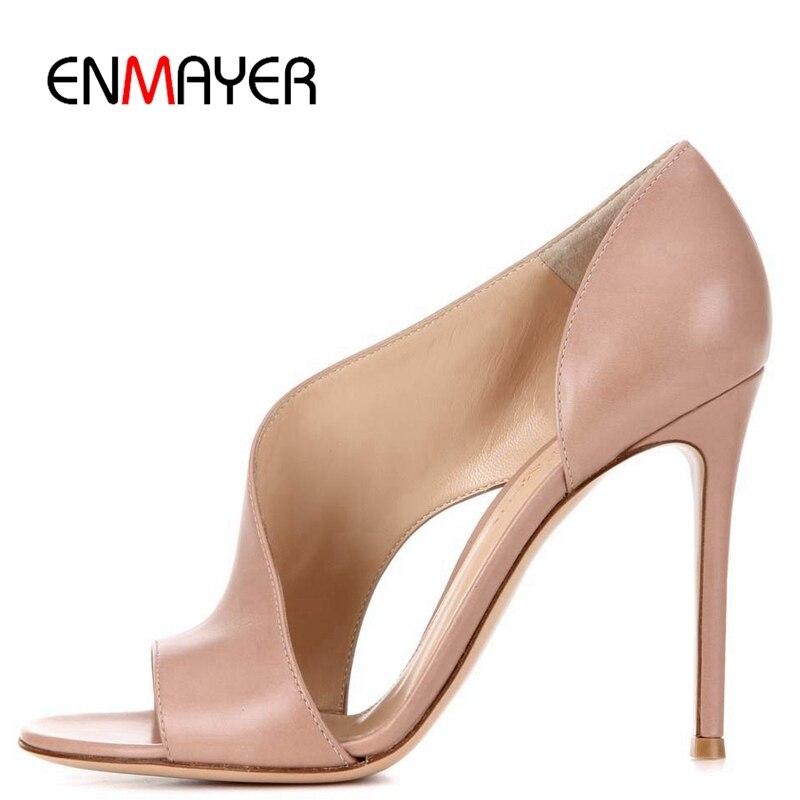 da1fbbbebbd62e Pour De Enmayer Chaussures 35 2019 Mode Taille Décontracté Beige Sandales  Haute Femmes Spartiates Pu black ...