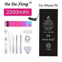 Original Da Da Xiong 7 7G 2200mAh Alta Capacidade de Bateria Para o iphone de Substituição Do Telefone Para o iphone 7 7G Baterias + Ferramentas Gratuitas