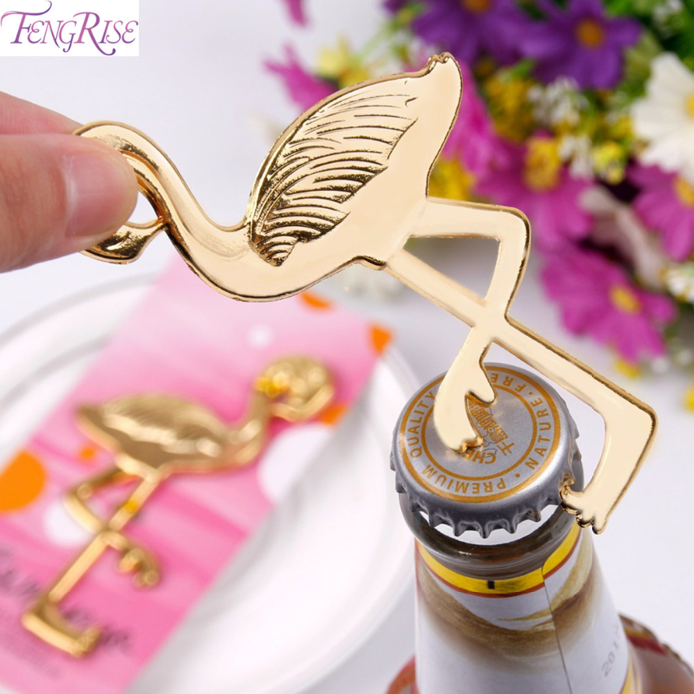FENGRISE Gold Flamingo Bottle Opener Wedding Favors And Gifts ...