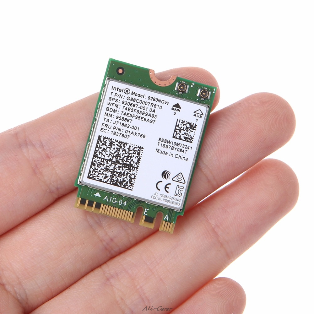 For Intel Wireless-AC 9260NGW Bluetooth Dual Band <font><b>802.11ac</b></font> 1730M WiFi Card 2.4 GHz & 5 GHz High Speed image