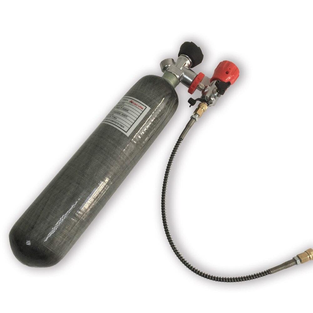 Acecare 2L 30MPa 4500psi Remplissage Paintball/HPA Réservoir/Cylindre pour le PCP Pistolet À Air pour La Chasse avec Valve & station de remplissage AC102301