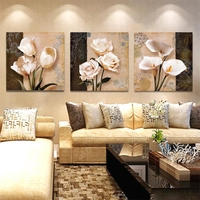 3 Panel Abstract pink Tulip rose Calla lily Flowers Canvas Poster Home Decor Abstract Wall Art Painting On Canvas Pictures