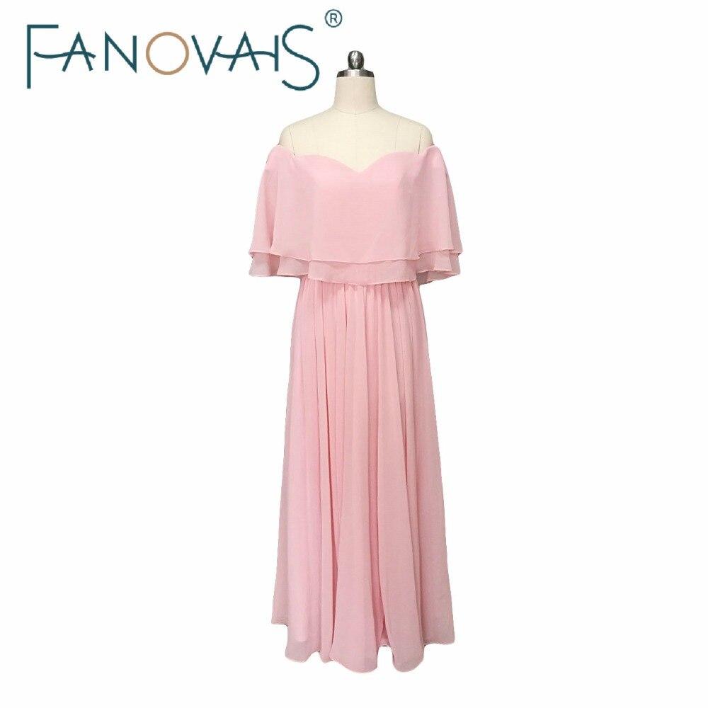 Pink Bridesmaid Dresses Long Chiffon Wedding Guesst Dress Maid of Honor Dress 2019 Cheap Bridesmaid Gowns Vestido de Festa Longo