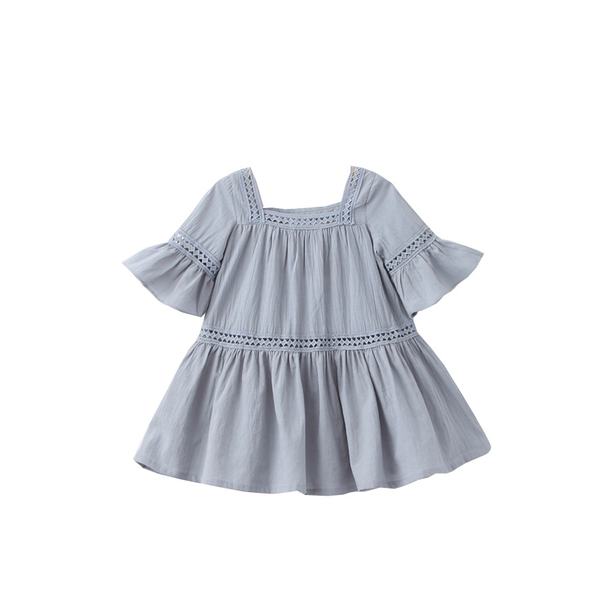 Dress Princess Korean Bell-Sleeve Girls Clothing Lace Girl Cotton Cute