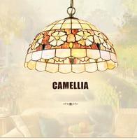 Tiffany Lamps European Bedroom Chandelier Lamp Lamp Head Single Study Restaurant Bar Cafe Shell Lamp