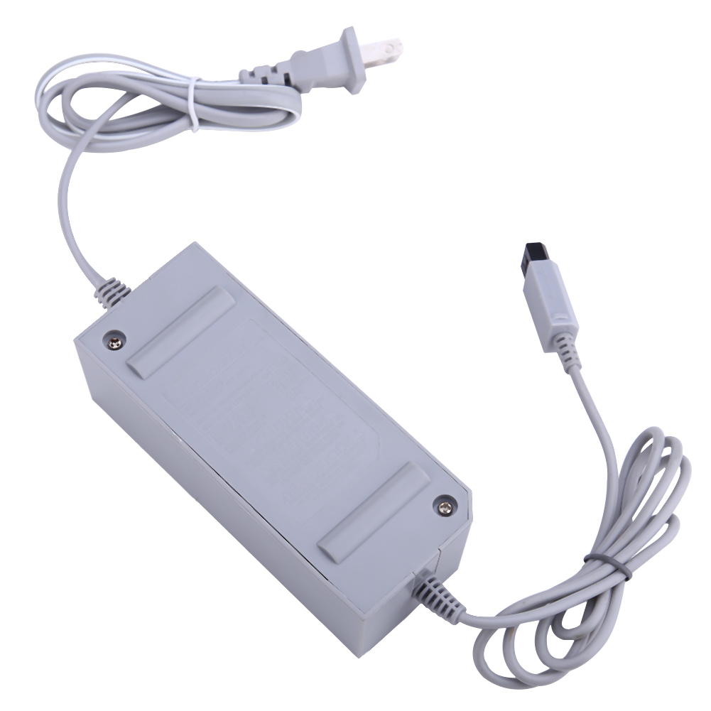 ALLLOYSEED 120cm US Plug AC 100-240V to DC 12V 3.7A Charger Adapter For Nintendo Wii Game Console Host Power Supply Wall Charger