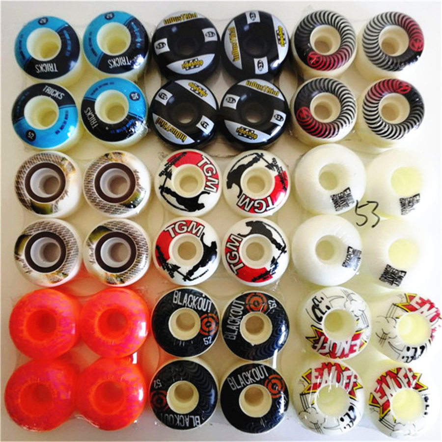 4pcs /Set High Quality ELEMENT Skateboard Wheels 51/52/53/54mm Double Rocker Skate Board Wheels 101A Skateboarding Accessories