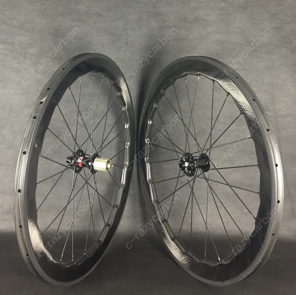 Road Dimple Carbon Wheels With 6 Bolts Disc Brake 58mm Tubular/Clincher Road Bike Carbon Wheel 700C 700c dimple surface carbon wheelset light weight 58mm depth clincher road bike wheels with bitex 306f 306 r hubs