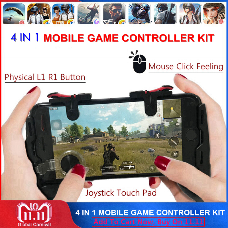 Freies Feuer PUBG Mobile Joystick Controller Gamepad PUGB L1 R1 Mobile Gaming Trigger Taste L1R1 Shooter Telefon Spiel Pad für iPhone