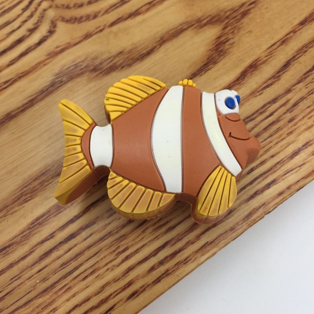 Cute Yellow Fish Soft Rubber drawer Knobs and Handles For Kid Rooms ...