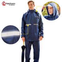 Traje Impermeable para mujer/hombre Poncho con capucha para motocicleta ropa de lluvia para motocicleta S-6XL