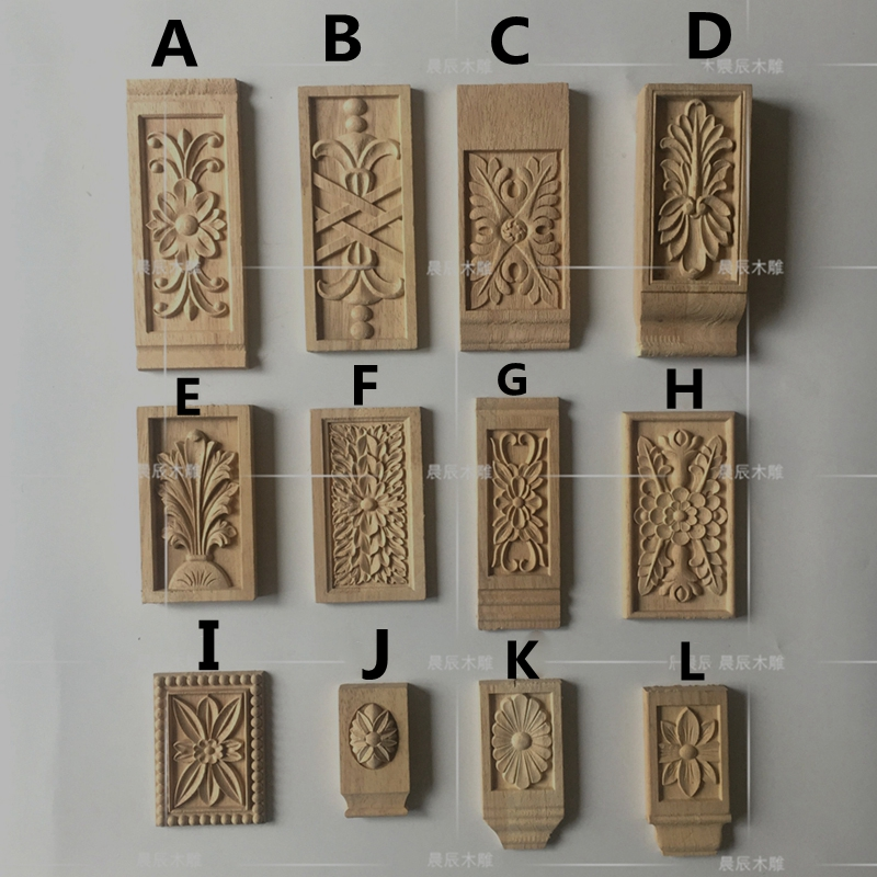2pcs/lot,  Door Furniture Carved Decorative Accessories European Solid Wood Decals Applique Wood Corbel(A740)