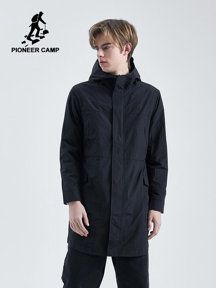 Pioneer Camp New Autumn Mens Fashion Outerwear Windbreaker Men S Thin Long Jackets Hooded Casual Streetwear Coat AFY901586