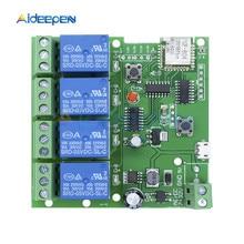 цена на DC 5V-32V 4 Channel Wifi Relay Module Phone APP Wireless Remote Control Switch Self-Lock Interlock For Smart Home DC 12V 24V