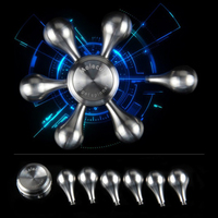 LOCDCDML 2017 Fidget Toys Pattern Hand Spinner Metal Fidget Spinner And ADHD Adults Children Educational Toys