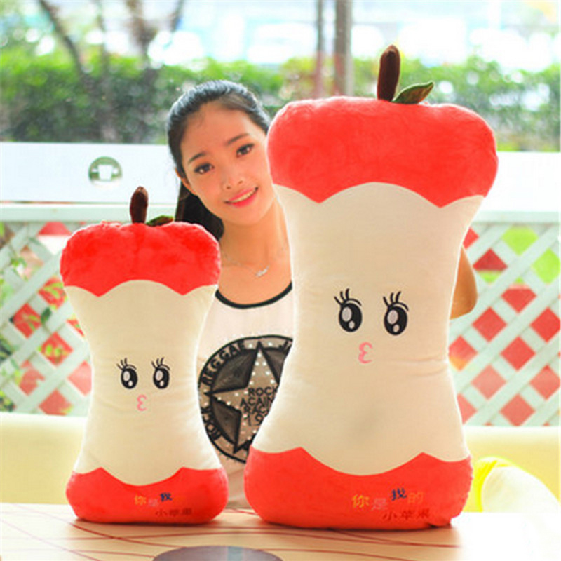 цены  Fancytrader Giant Simulated Fruits Apple Plush Pillow Doll 70cm Soft Stuffed Apples Toys for Children