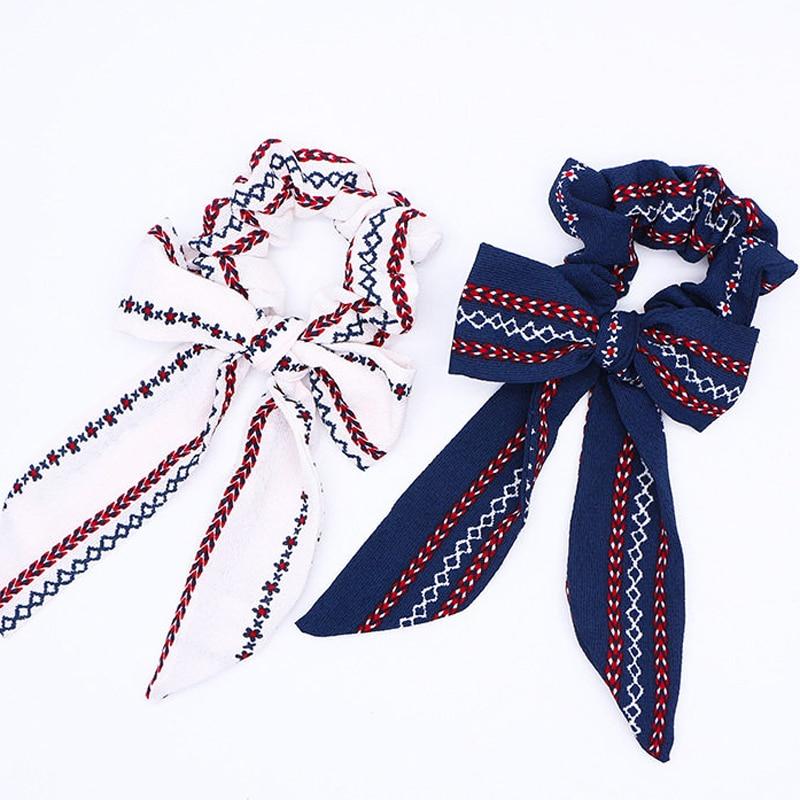 diy bow streamers hair scrunchies