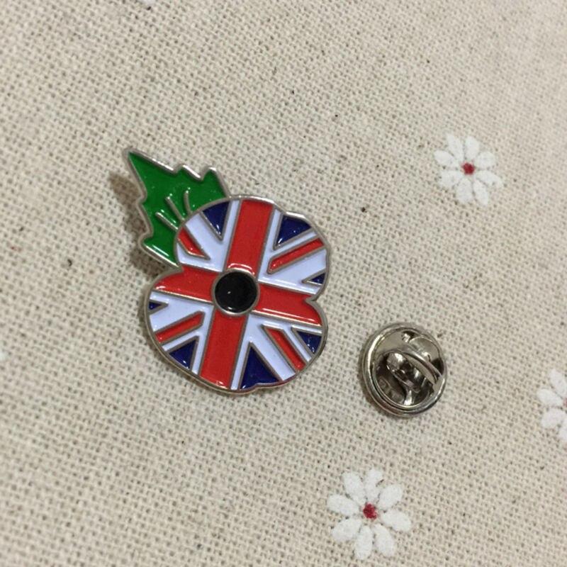 100 piezas personalizado Reino Unido bandera broche masónico Crested amapola esmalte solapa Pin insignia masones Metal manualidades regalos de recuerdo-in Pines e insignias from Hogar y Mascotas    2