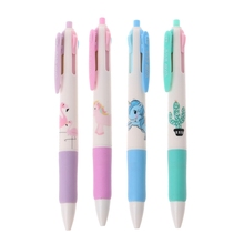 4Pcs Flamingo Unicorn Cactus 4 Colors Ballpoint Pen School Office Supply Gift