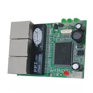Image 2 - OEM chuyển đổi mini 3 cổng switch ethernet 10/100 mbps rj45 mạng chuyển đổi hub pcb đun board cho hệ thống tích hợp