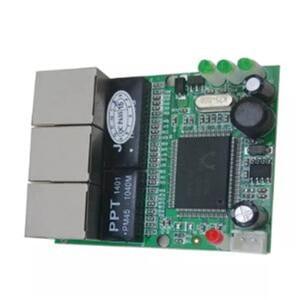 Image 2 - OEM interruptor mini interruptor 3 puertos ethernet de 10/100 mbps rj45 red hub switch módulo pcb Junta sistema la integración