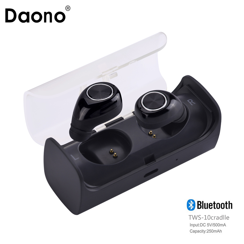 New Mini Invisible Twins TWS True Wireless Bluetooth Headset Earphones CSR 4.1 Handsfree with Power Storage Organizer Box