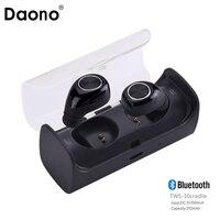 New Mini Invisible Twins TWS True Wireless Bluetooth Headset Earphones CSR 4 1 Handsfree With Power