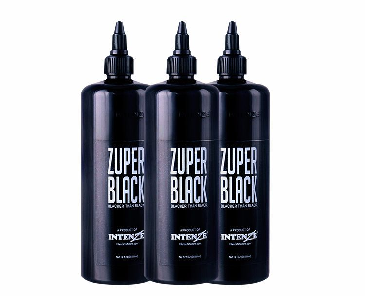large bottle ZUPER BLACK Tattoo Ink 12oz (360ml)