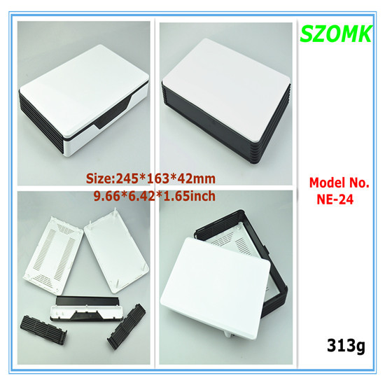 1 piece plastic  network enclosure  245*163*42MM High quality wifi  enclosure tp linker  electronics junction box for project high tech plastic electric torch enclosure mould
