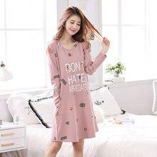 2019 new arrivals cotton nightgowns soft home dress sexy nightwear women sleepwear striped sleep lounge vintage nightgown fem